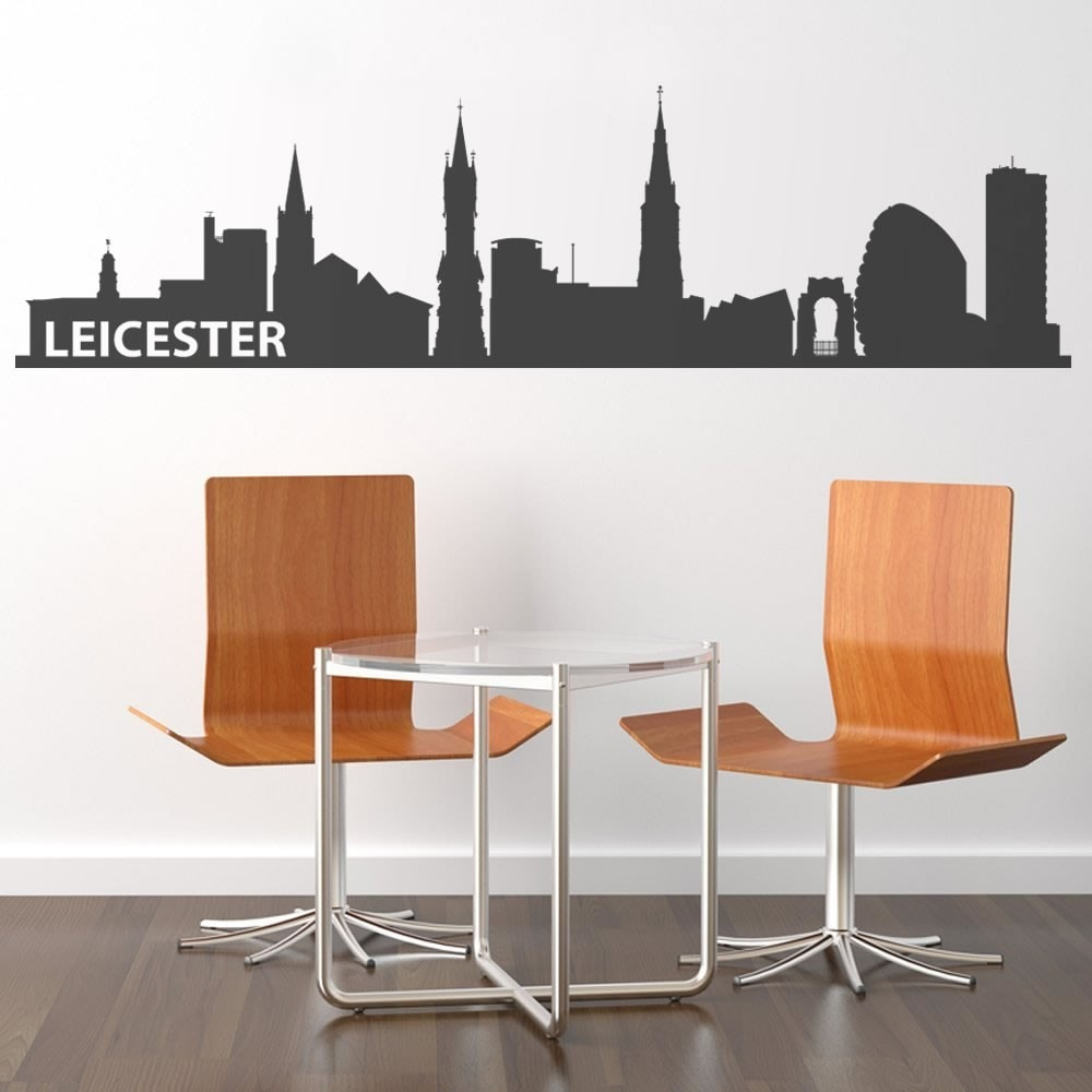 Leicester Skyline Wall Sticker - Wall Chick