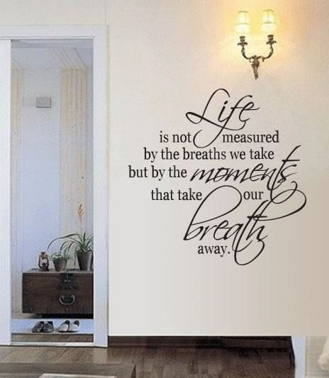 Life is not Measured Wall Sticker - Wall Chick