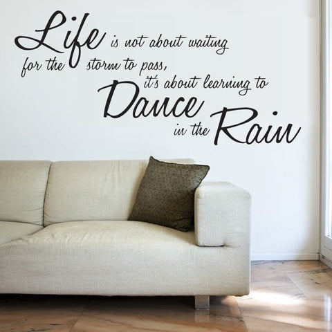 Life - Dancing in The Rain Wall Sticker - Wall Chick
