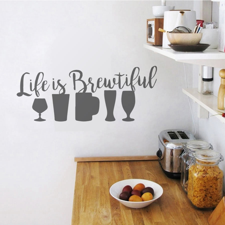 Life is brewtiful wall sticker