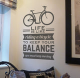 Life Is Like Riding a Bicycle Wall Sticker