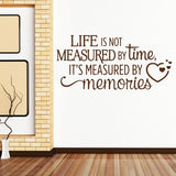 Life Is Not Measured Memories Wall Sticker - Wall Chick