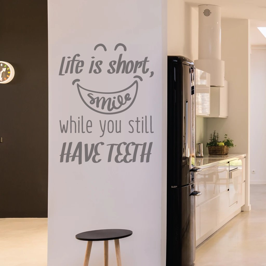Life Is Short - Smile Wall Sticker