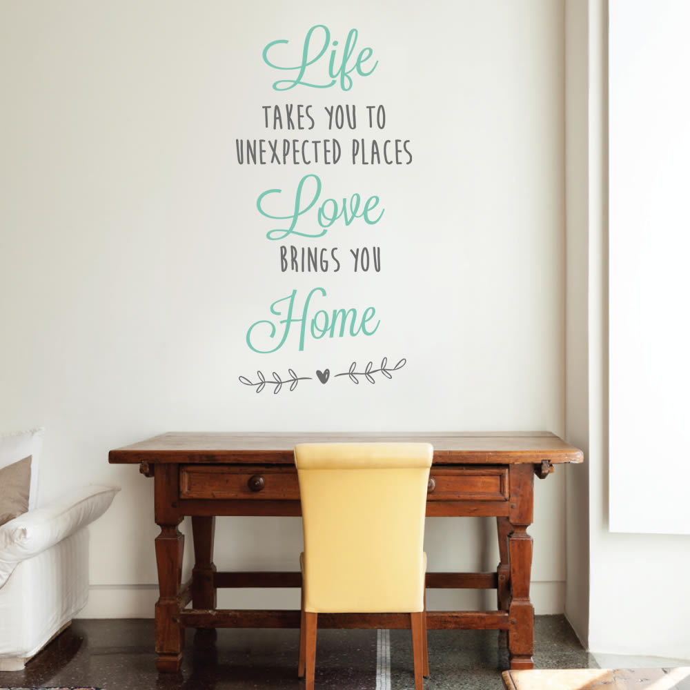 Life Love Home Wall Sticker