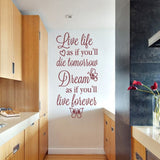 Live Life As If Wall Sticker - Wall Chick