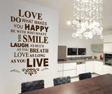 Love - Do What Makes You Happy Wall Sticker - Wall Chick