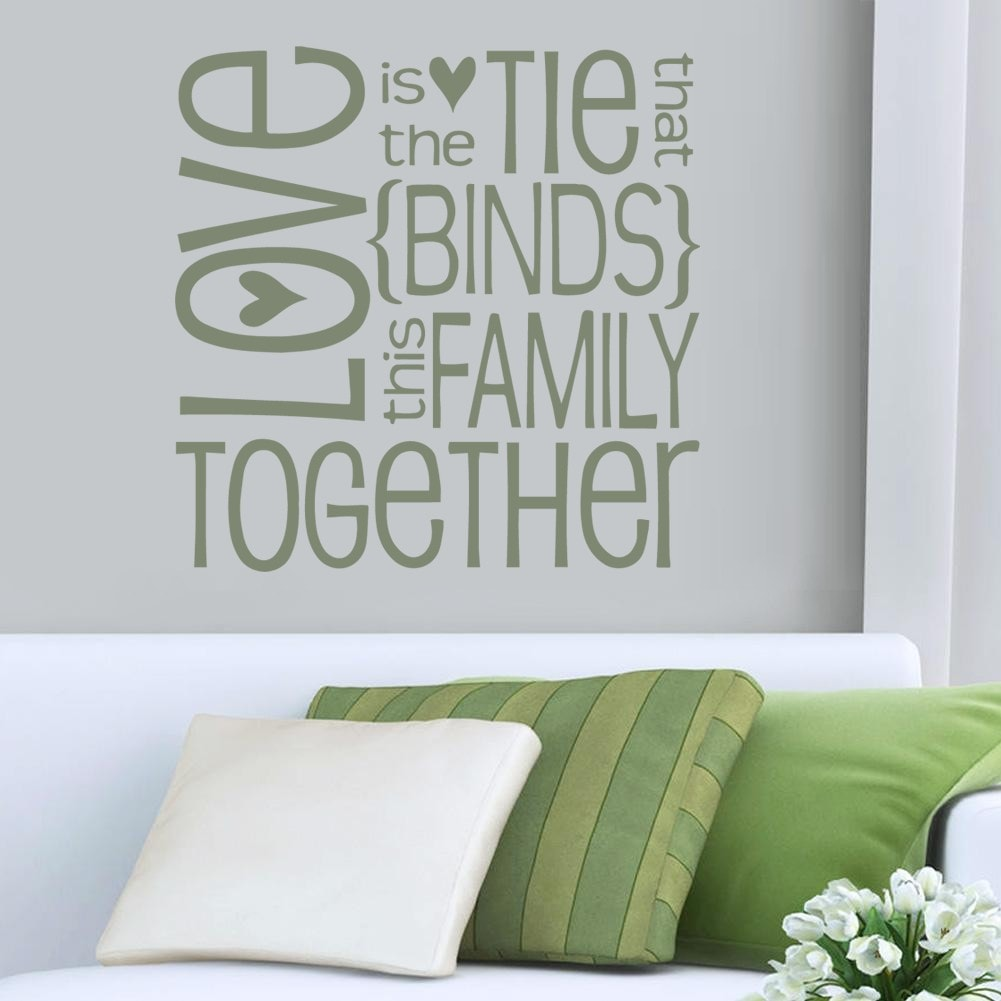 Love is The Tie Wall Sticker - Wall Chick