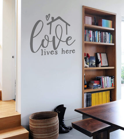 Love Lives Here Wall Sticker
