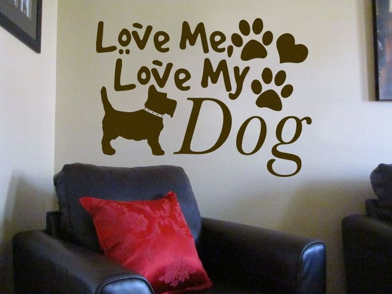 Love Me, Love My Dog Wall Sticker - Wall Chick