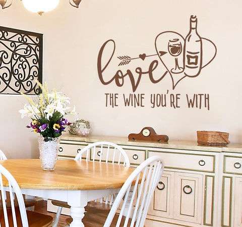 Love the Wine Wall Sticker - Wall Chick