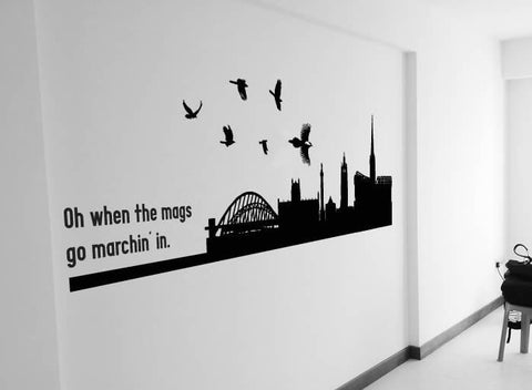 Oh When the Magpies Go Marchin In Wall Sticker - Wall Chick