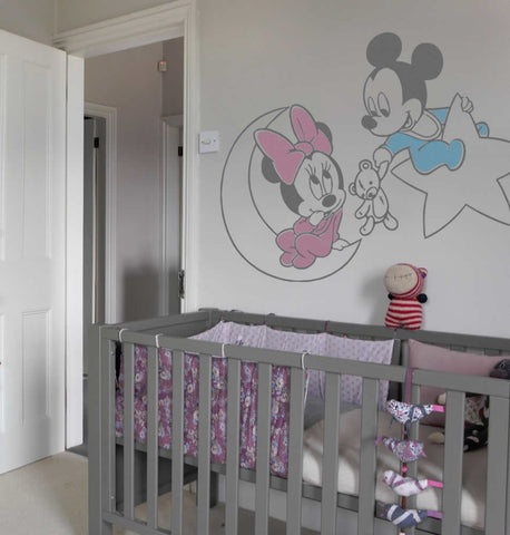 Mickey, Minnie, Moon & Star Wall Sticker - Wall Chick