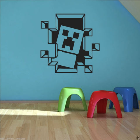 Minecraft Blocks Wall Sticker - Wall Chick