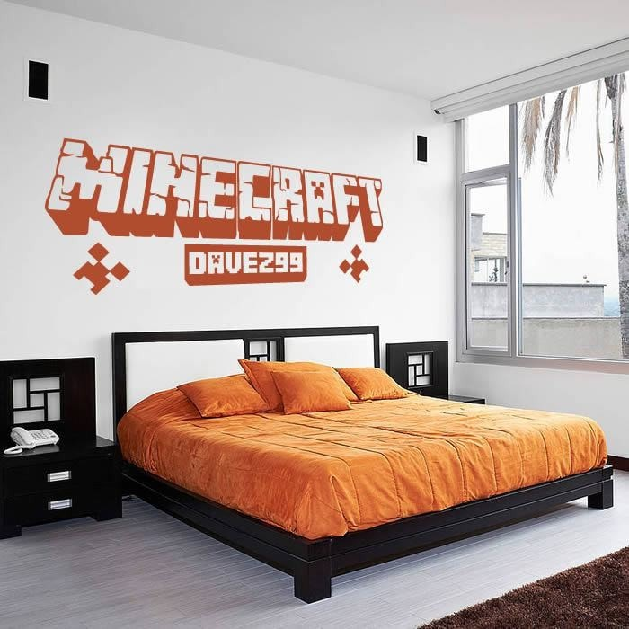 Minecraft with Name/GamerTag Wall Sticker - Wall Chick