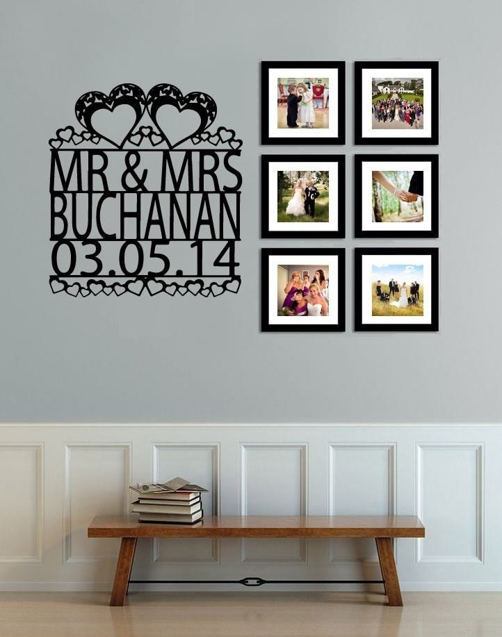 Personalised Wedding Wall Decal Wall Sticker - Wall Chick