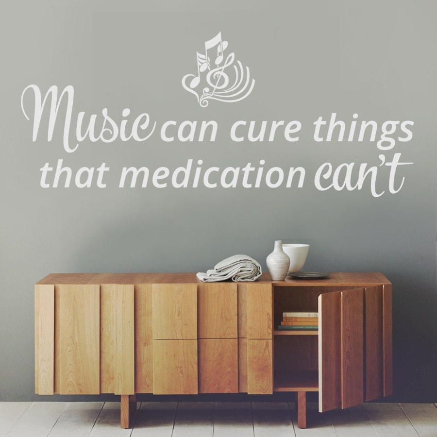 Music Can Cure Things Wall Sticker - Wall Chick