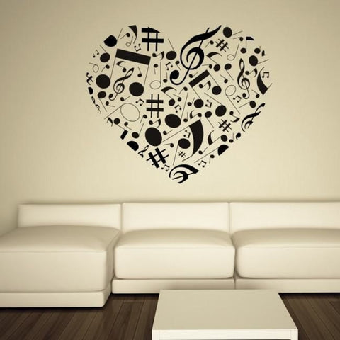Musical Heart Wall Sticker - Wall Chick
