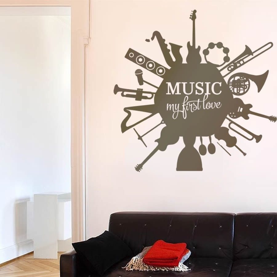 Music First Love Wall Sticker - Wall Chick