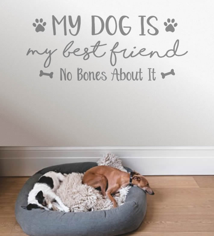 My Dog is My Best Friend Wall Sticker
