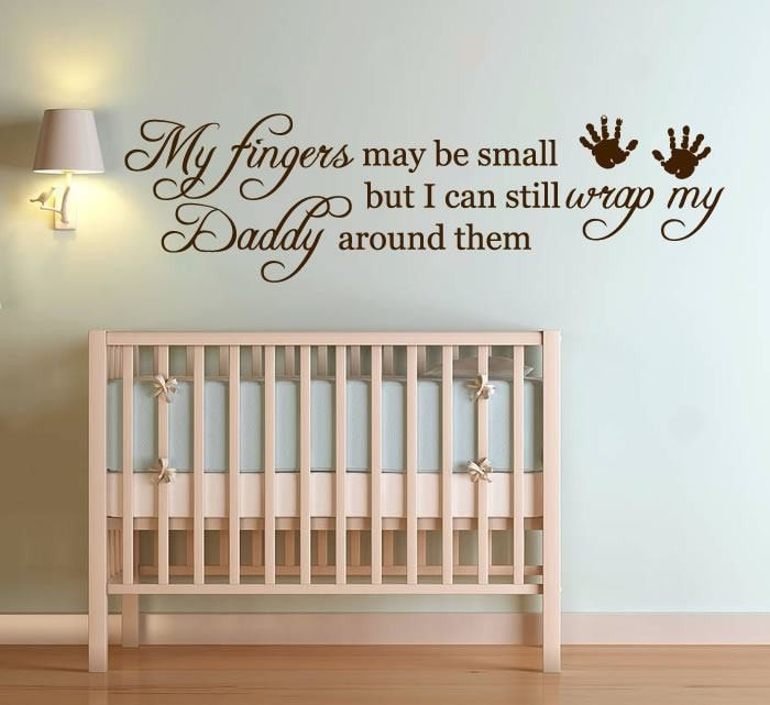 My Fingers May Be Small Wall Sticker - Wall Chick