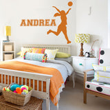 Netball with Name Wide Wall Sticker