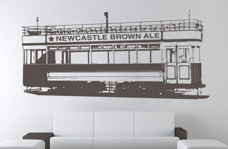 Newcastle Tram Wall Sticker - Wall Chick