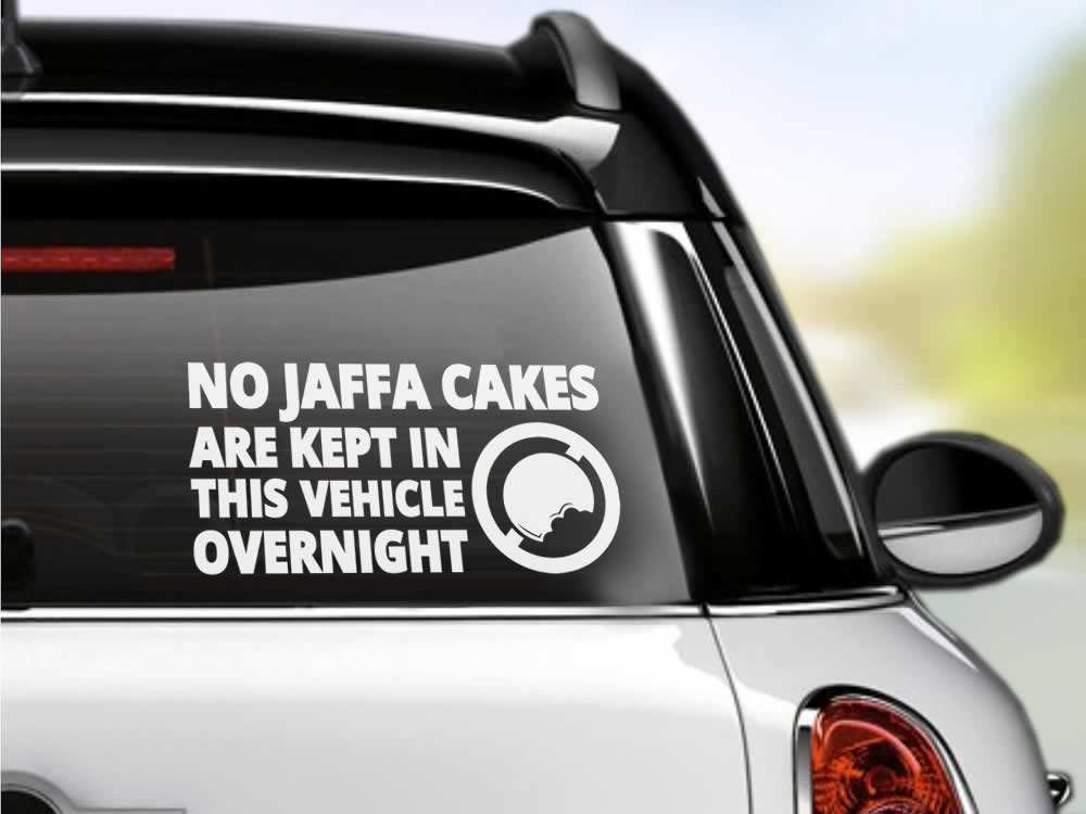 No Jaffa Cakes Car Sticker
