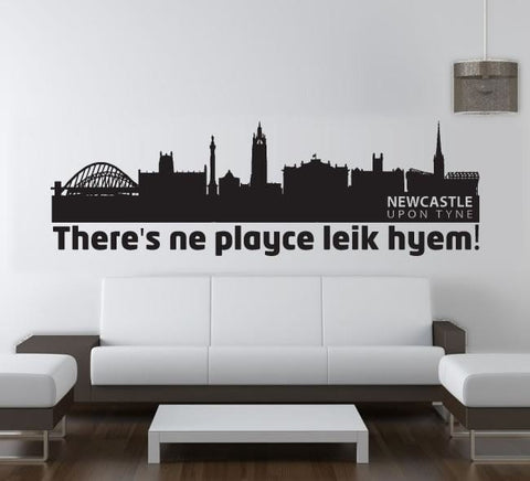 Newcastle ne playce leik hyem wall sticker wall chick