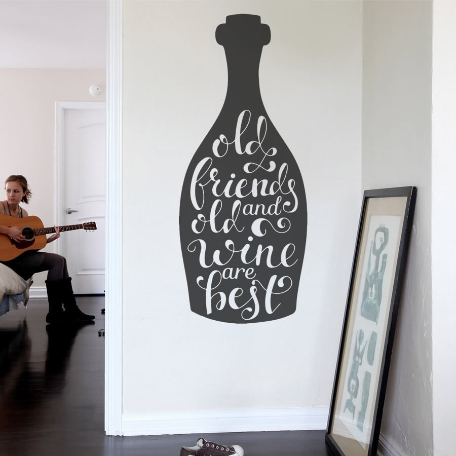 Old Friends and Old Wine Wall Sticker - Wall Chick