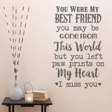 You Were My Best Friend Wall Sticker