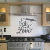Baked With Love Kitchen Wall Stickers