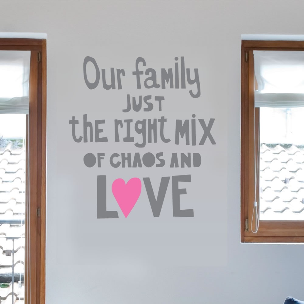 Our Family Just the Right Mix Wall Sticker - Wall Chick