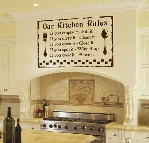 Our Kitchen Rules Wall Sticker - Wall Chick