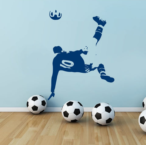 Overhead Kick Wall Sticker - Wall Chick