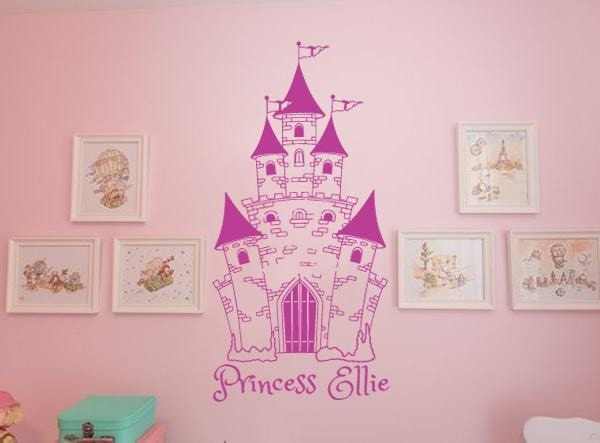 Princess Castle with Name Wall Sticker - Wall Chick