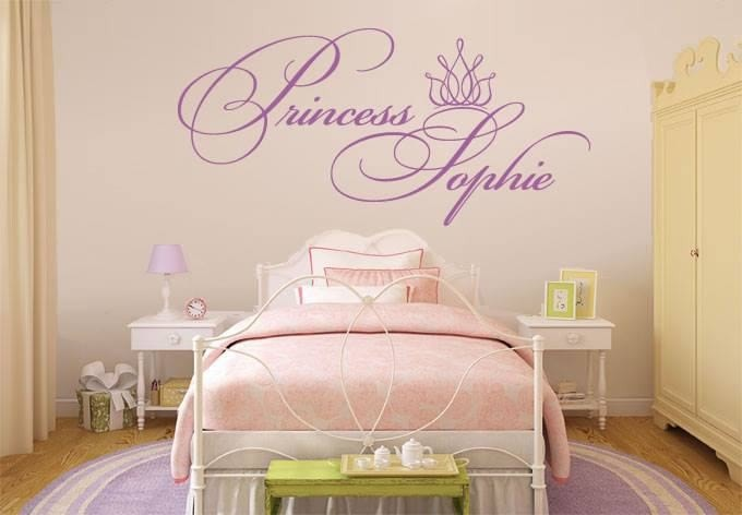Princess and Name Wall Sticker - Wall Chick