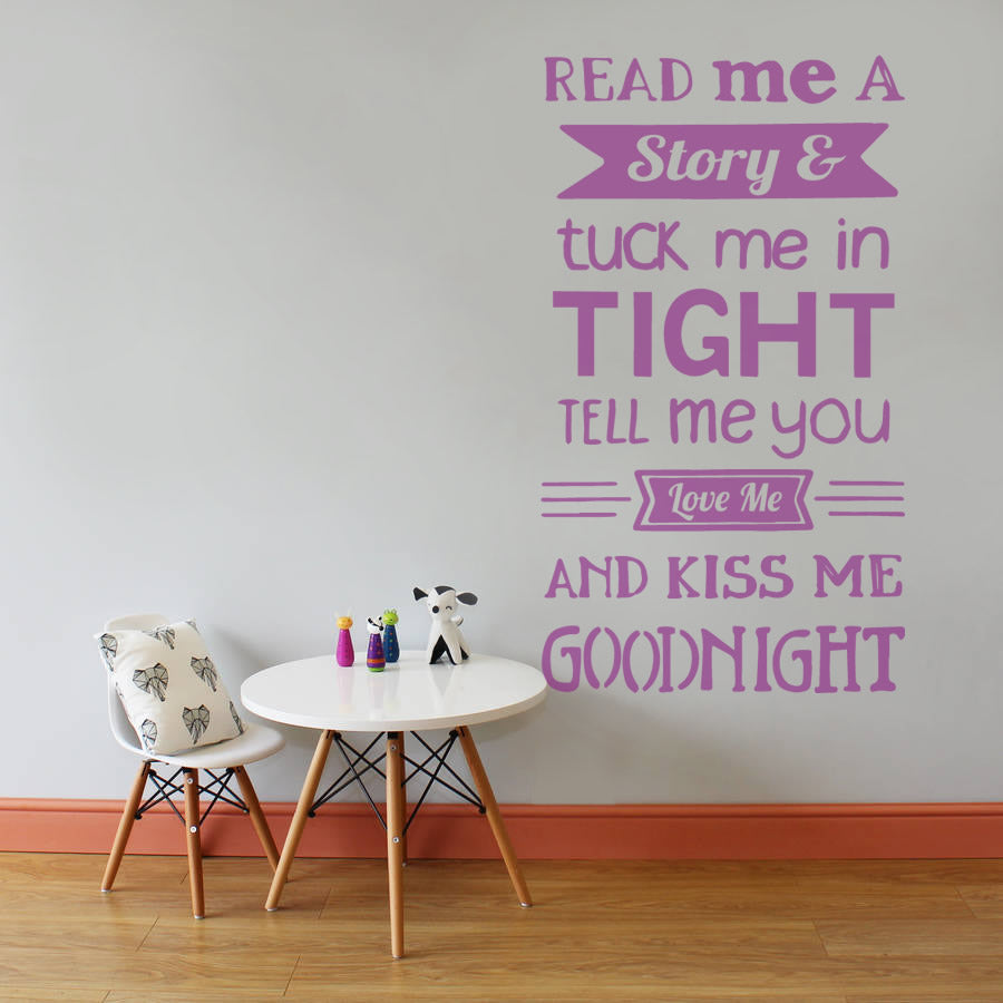 Read me a story Tall Nursery Wall Sticker
