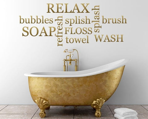Relax - Bath Wall Sticker - Wall Chick