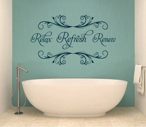 Relax Refresh Renew Wall Sticker - Wall Chick