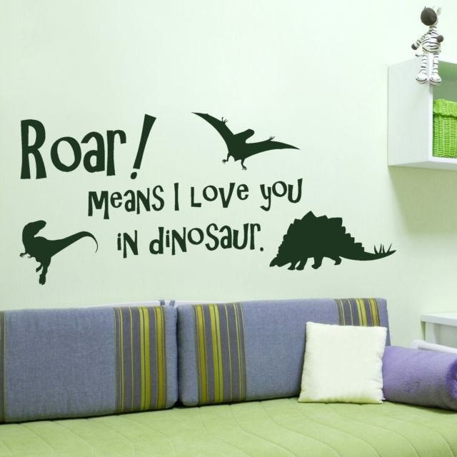 Dinosaur, Roar means I love you. Wall Sticker - Wall Chick