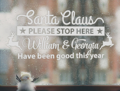Santa Please Stop Here Wall Sticker - Wall Chick