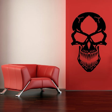 Scary Skull Wall Sticker - Wall Chick