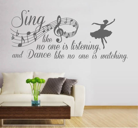 Sing Like No One is Listening Wall Sticker - Wall Chick