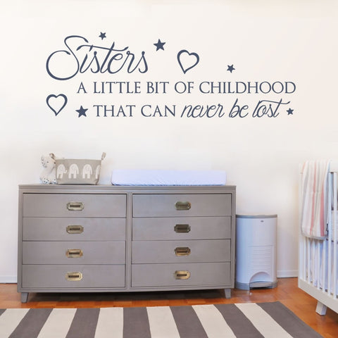 Sisters Wall Sticker - Wall Chick
