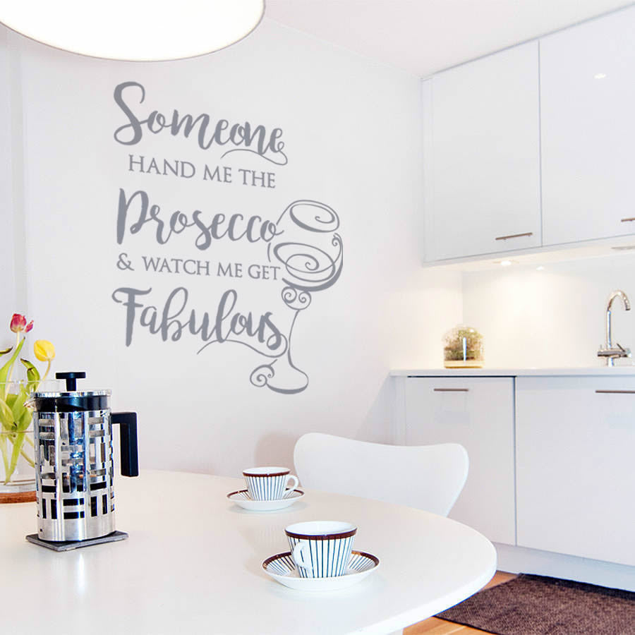 Someone hand me the Prosecco Wall Sticker