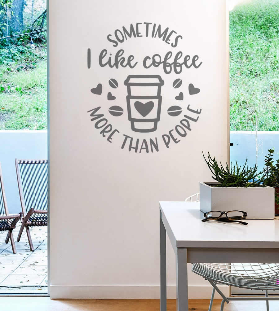 Sometimes I Like Coffee Wall Sticker