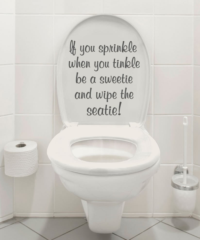 Sprinkle Tinkle Toilet Wall Sticker - Wall Chick