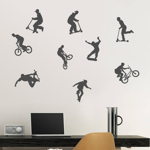 Extreme Sports Action Wall Sticker Pack