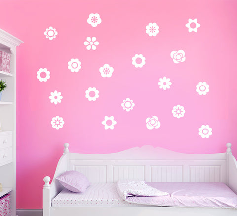 Flowers Wall Sticker Pack