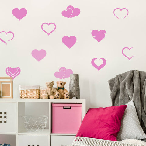 Hearts Wall Sticker Pack